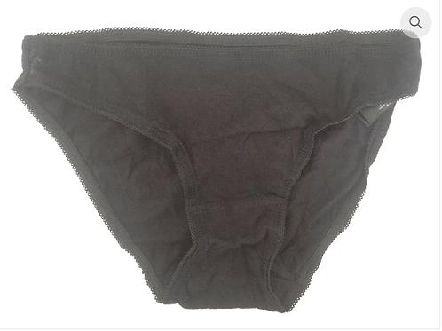 BLACK COTTON USED PANTIES (SK0009)