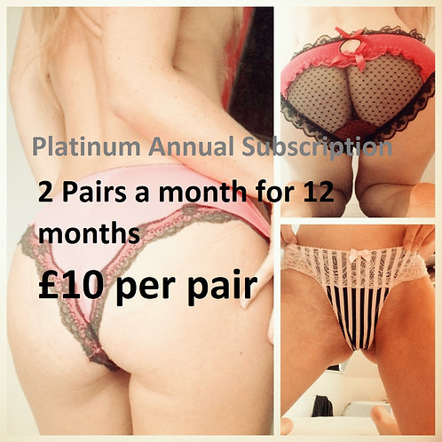 annual subscription discount £10 used panties from UK pantyseller misssmithxxx