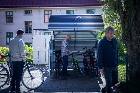 Cykelgaraget Dooman människor Eriksberg