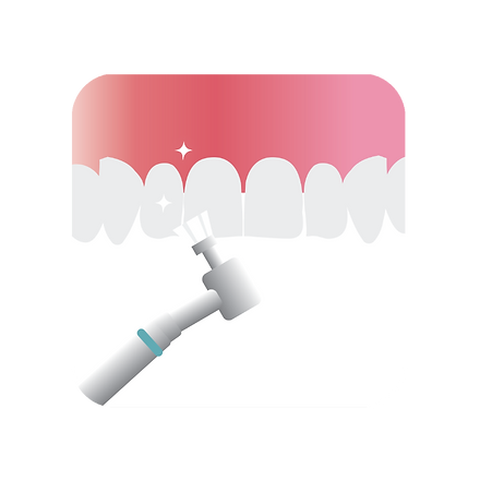 teeth cleaning with an electrical toothbrush