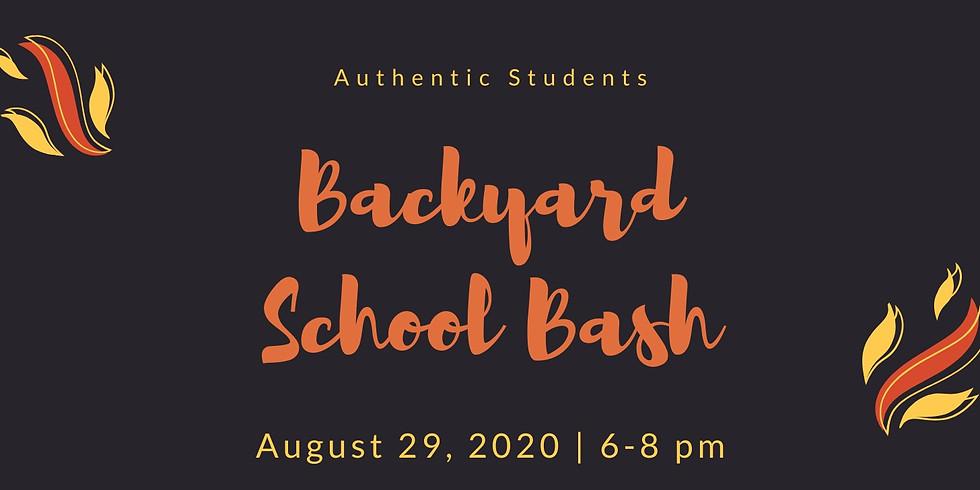 Backyard School Bash