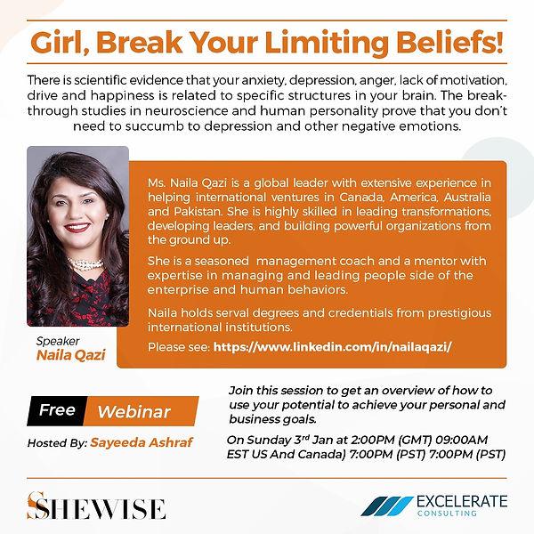 Girls, Break Limiting Beliefs