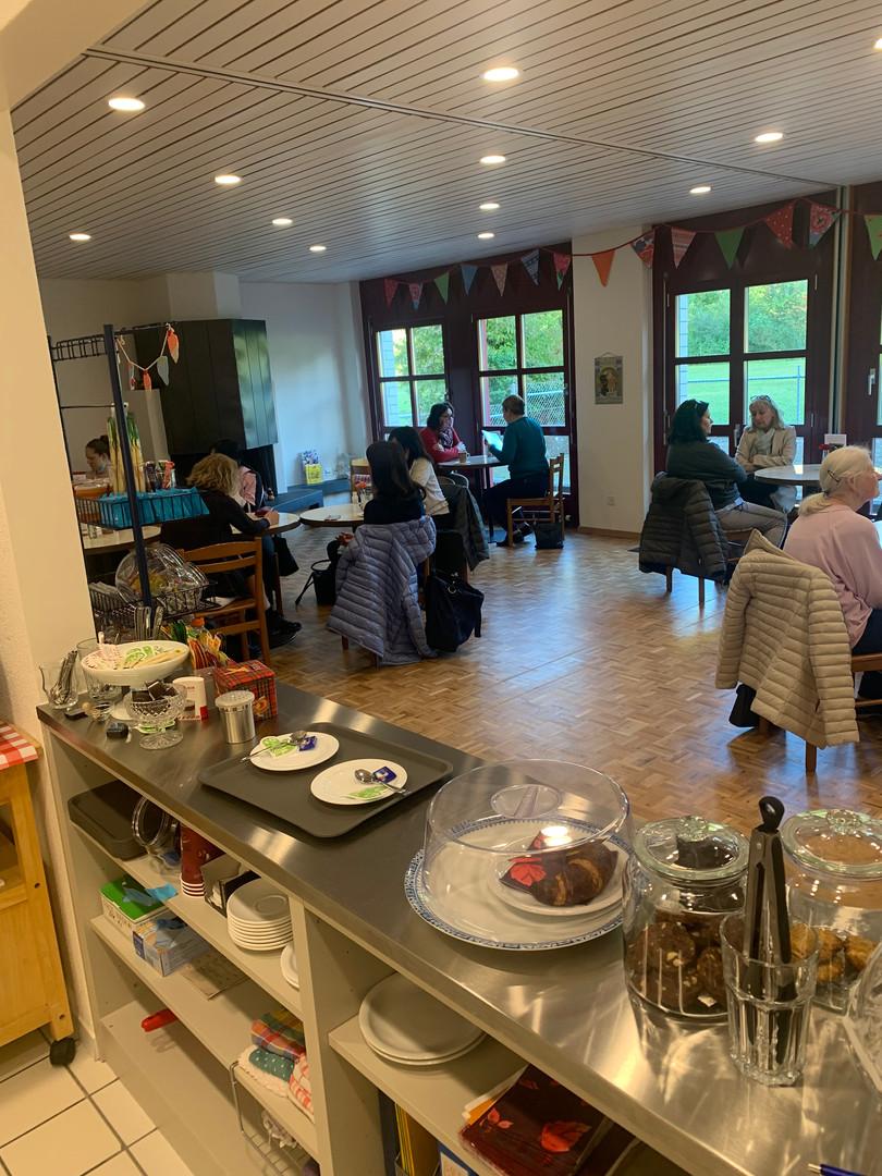 Cafeteria am Eröffnungsfext