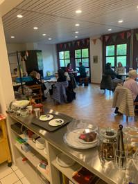Cafeteria am Eröffnungsfest