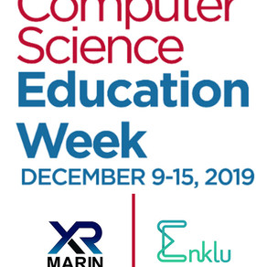 XR Marin Teams Up with Enklu to Introduce AR during Computer Science Education Week!