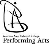 performing arts logo stack black - large