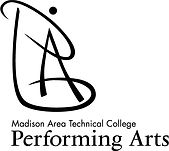 performing arts logo stack black - large