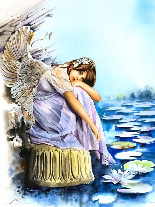 Blue Water Lily Peri by Somayeh Azimi
