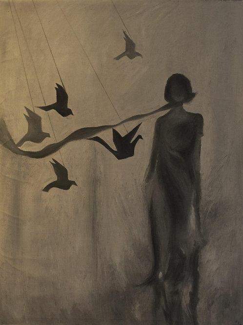 Captive Birds by Maryam Izade Dastenaee