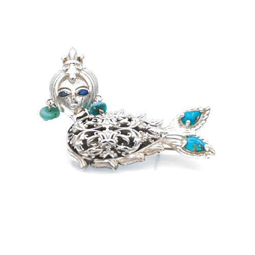 Water Faces Collection (Brooch) by Baharak Omidfar