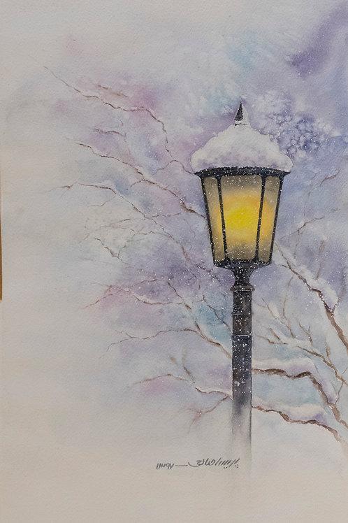 Snowy Night by Parisa Salehi