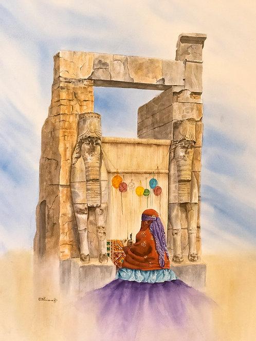 Weaver at Persepolis by Ghazaleh Seyed Salehi