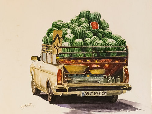 Watermelon Truck by Aliakbar Daghighafkar