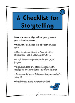 A Checklist for Storytelling