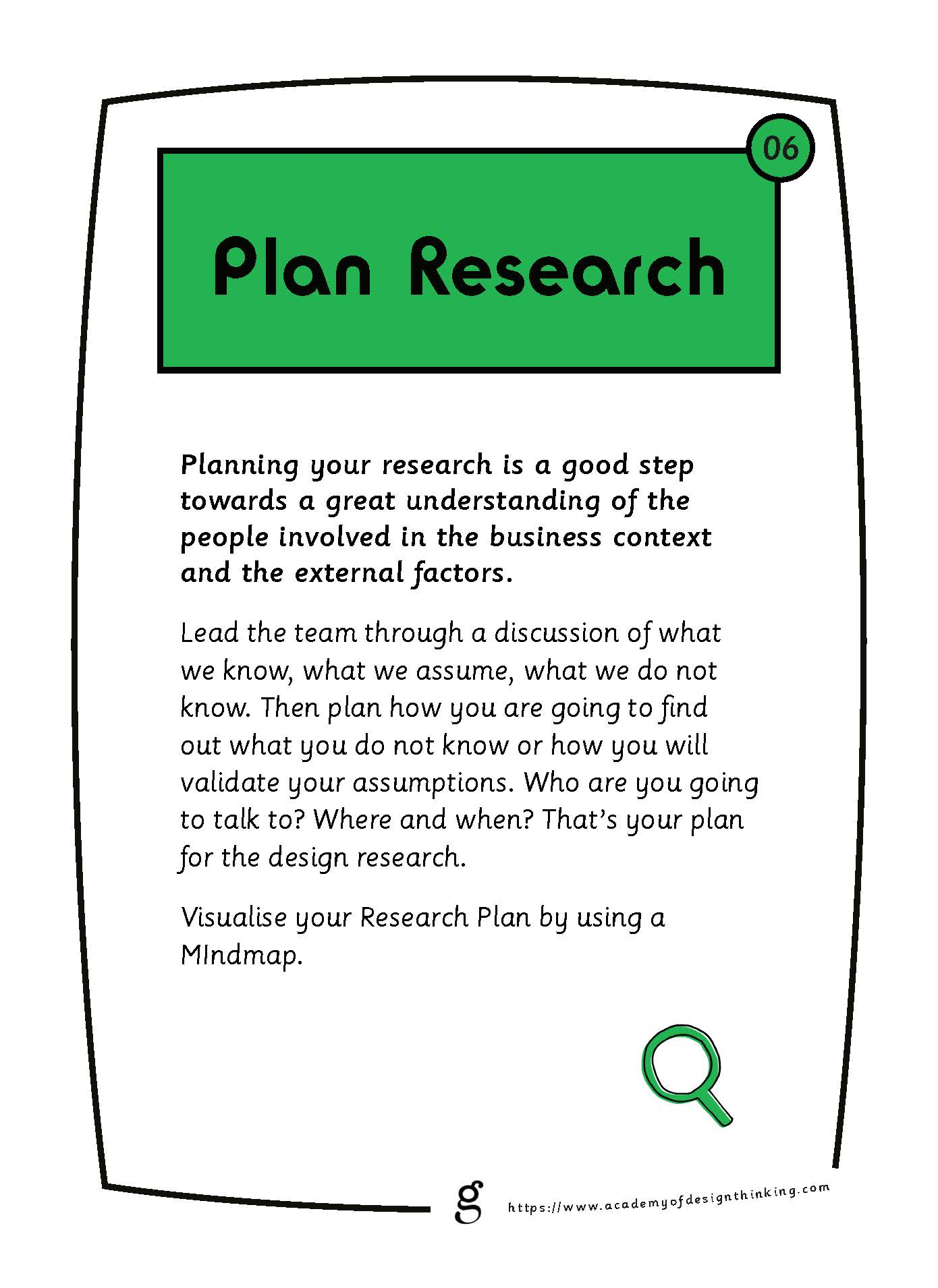 Plan Research