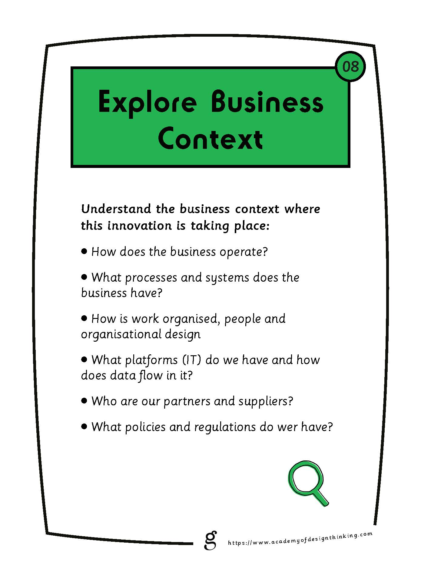 Explore Business Context