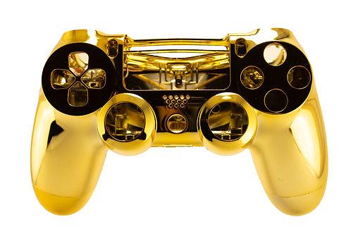PS4 Gehäuse V2 Chrom Gold
