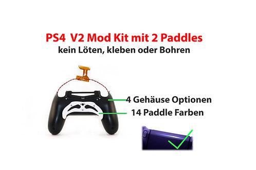 PS4 V2 Umbau Set 2 Paddles OHNE löten, kleben, bohren
