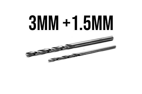 2x Bohrer für Paddle Mod 1.5mm + 3mm