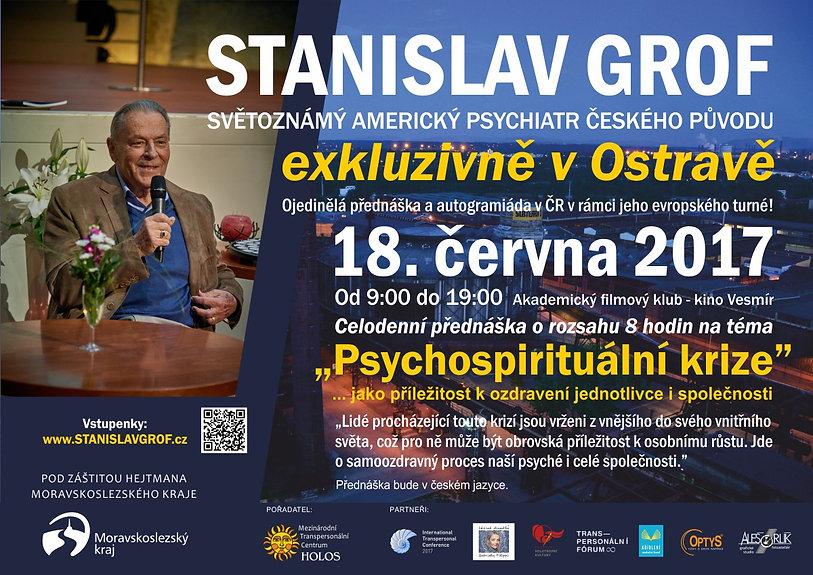 Pozvánka na přednášku Stanislava Grofa v Ostravě 18.6.2017