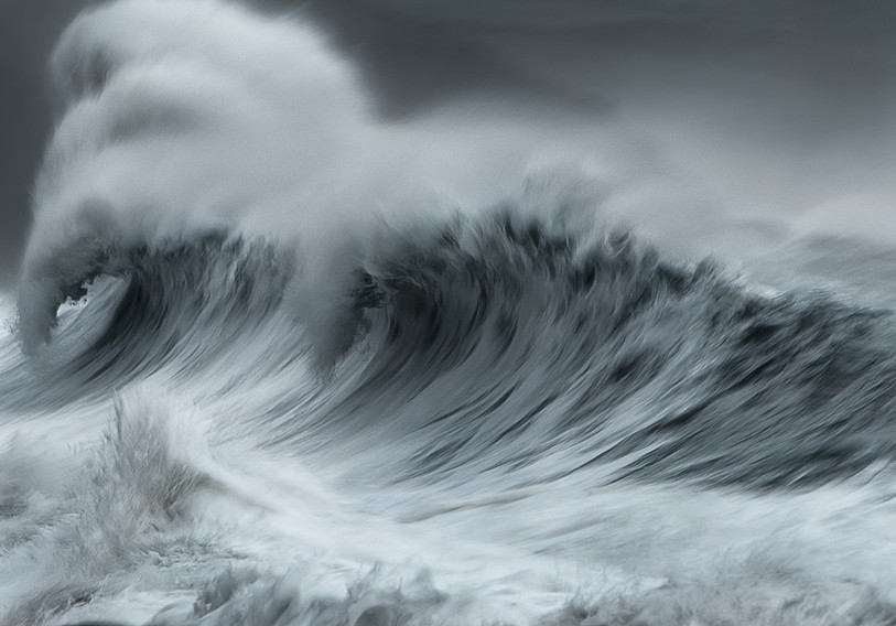 Seascape and wave photography Cornwall UK