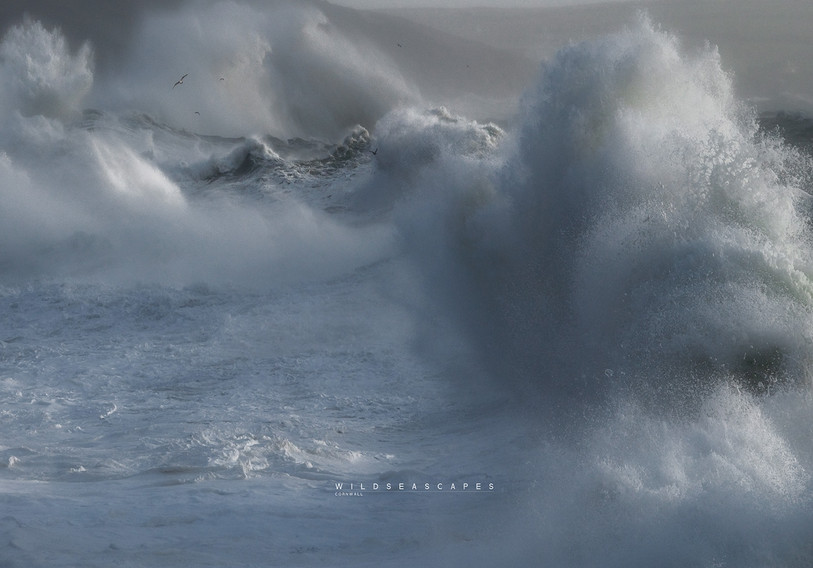 Cornwall storm in Porthleven