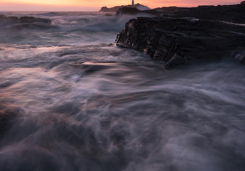 Long exposure photography Godrevy Lighthouse Cornwall UK