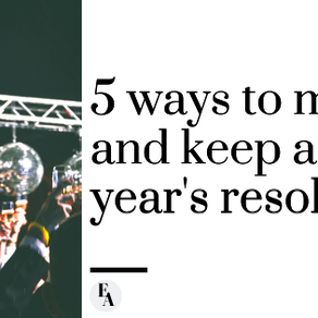 5 Ways To Make and Keep a New Year's Resolution