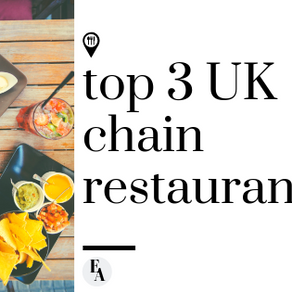 My Top 3 UK Chain Restaurants