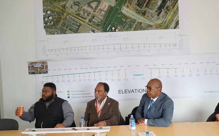 East Chicago Mayor Anthony Copeland site visit.