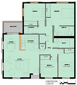 Summer Homes 4 Bedroom Floor Plan
