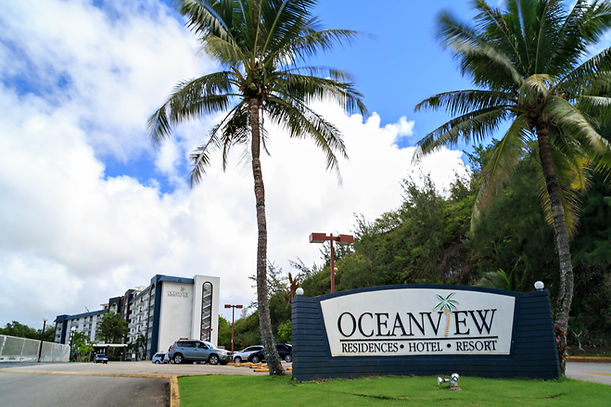 The welcoming view of the Oceanview Hotel and Residences.