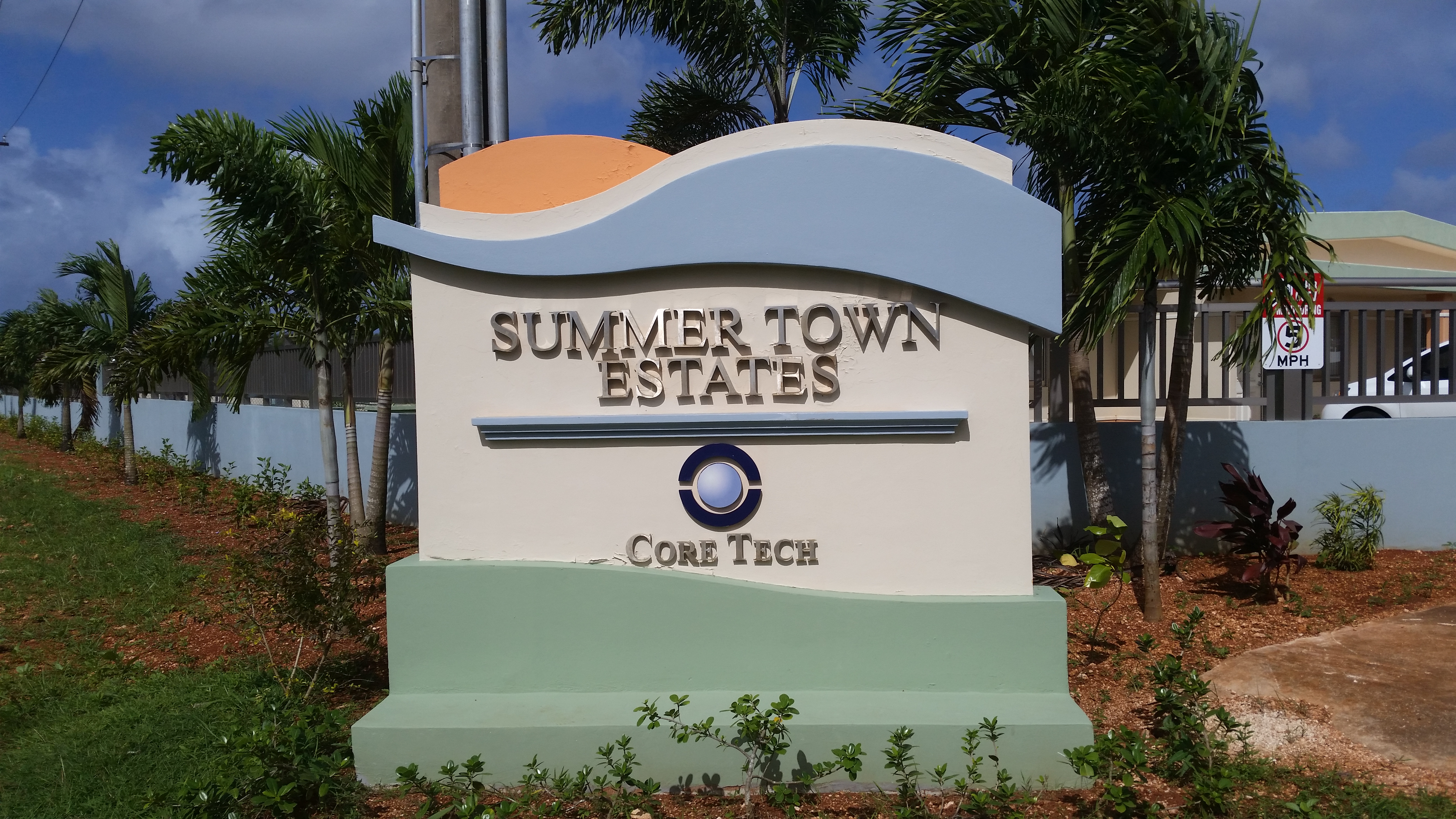Summer Town Estates Welcome Sign
