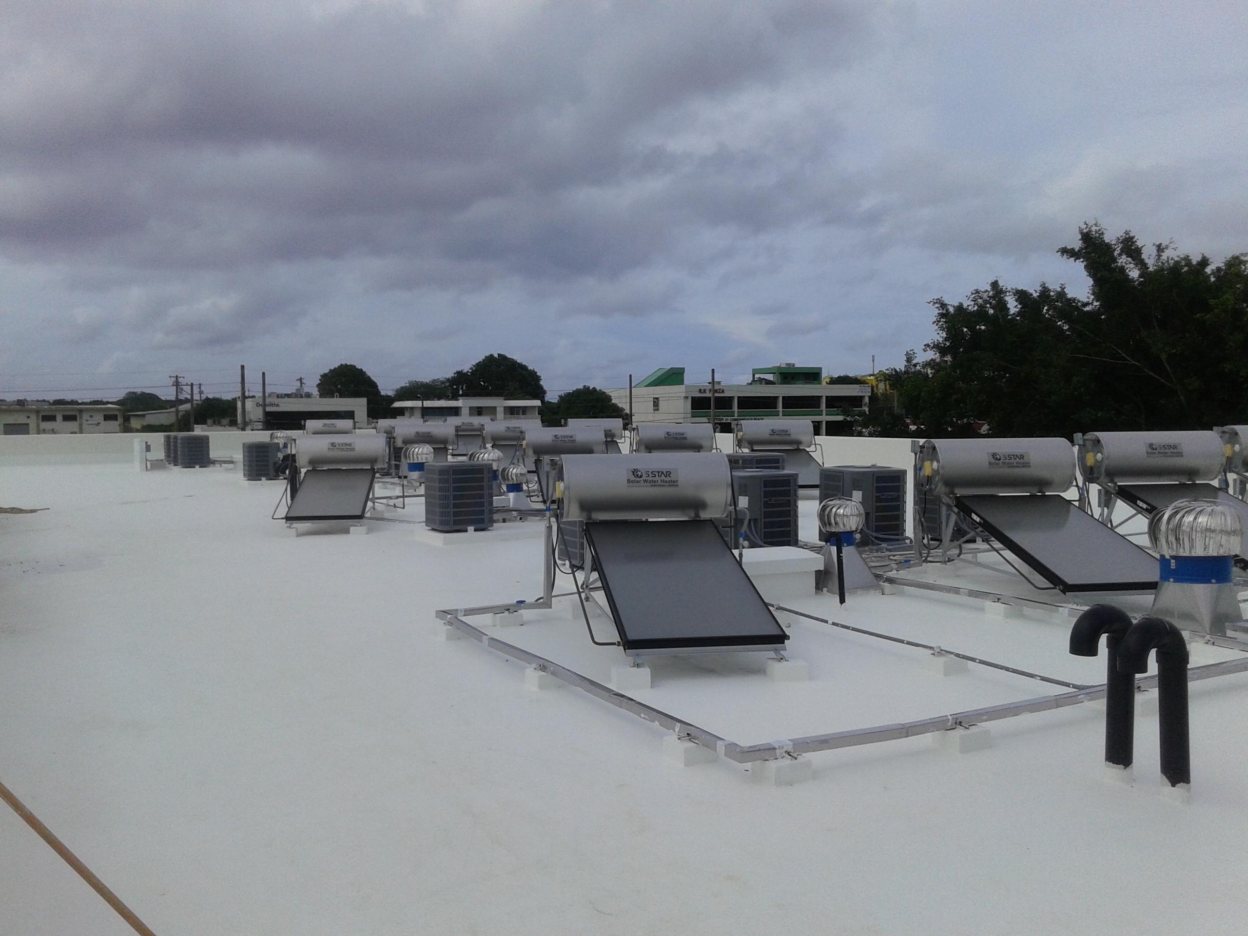 Solar water heaters on Summer Green