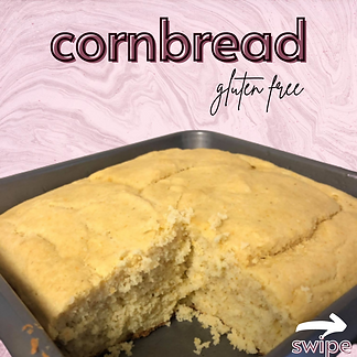 Cornbread made from our recipe