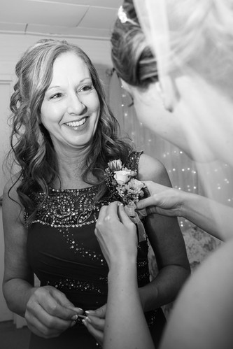 Mother seeing her Daughter on Wedding Day
