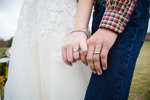 Maine Wedding Photograph of rings