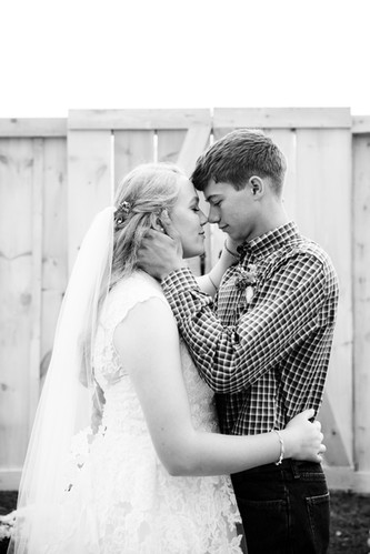 Wedding Couple holding each other