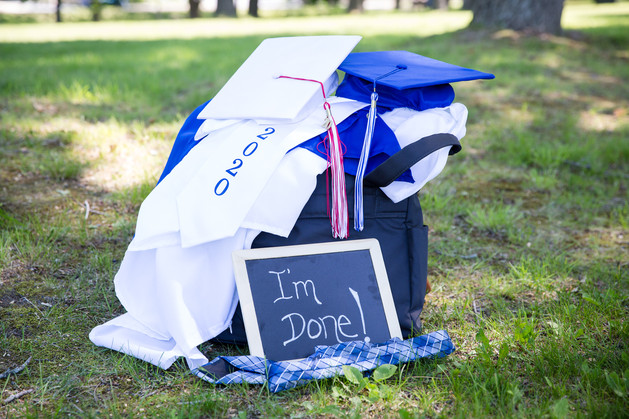 Julie Frances Photography Senior Cap & Gown Session