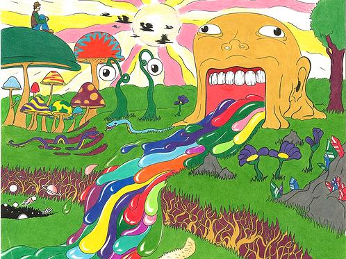 Vomiting Color (Print)