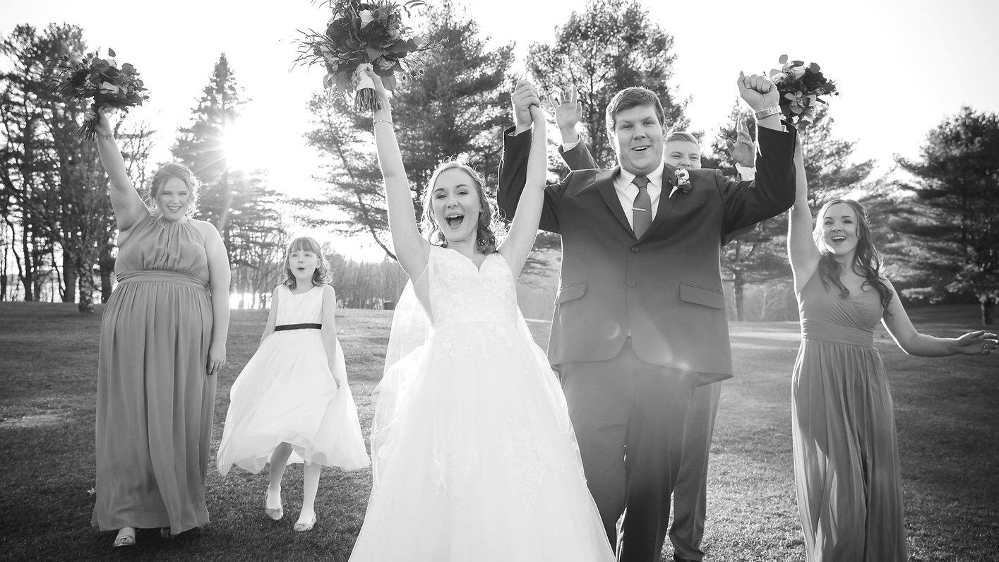 Bride & Groom Celebrating Maine
