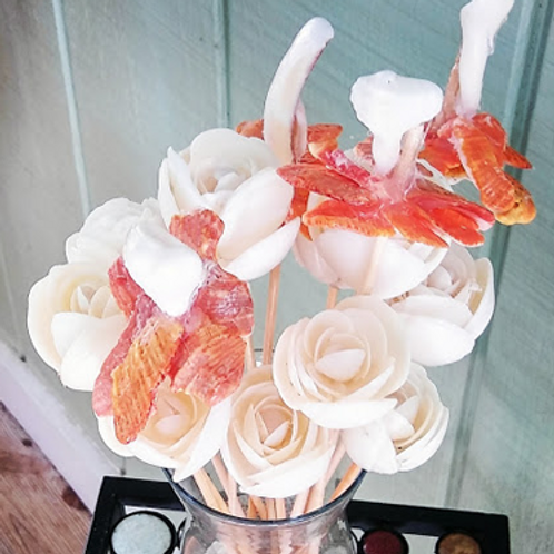 Large Bouquet of Unique Seashell Flowers. Handmade w/South Beach Shells