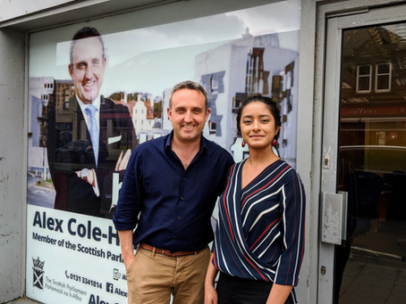 Political Shadowing Scheme -  Caresse Shadowing Alex Cole Hamilton MSP