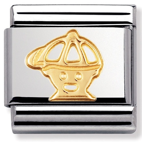 Nomination 030110 04 Classic 18kt Gold and Stainless Steel Little Boy Link