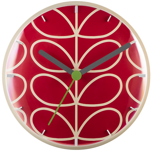 Orla Kiely Linear Stem Wall Clock Geranium