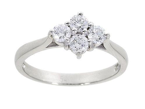 0.77ct Brilliant Cut Platinum Diamond Engagement Ring 0105038