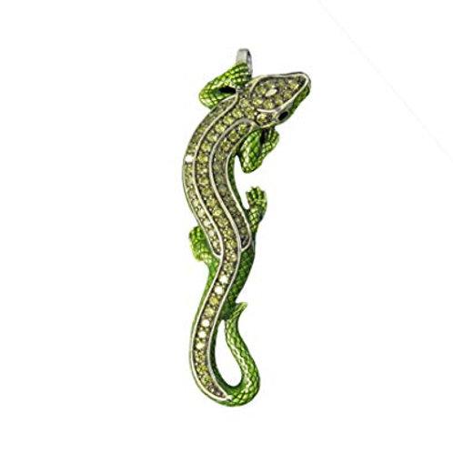 Thomas Sabo PE467-041-6 Sterling Silver Green Lizard Pendant 3301407