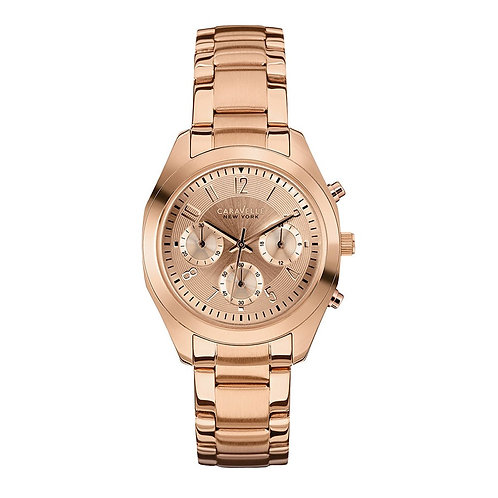 Caravelle New York 44L115 Ladies Rose Tone Chronograph Quartz Watch 2901565
