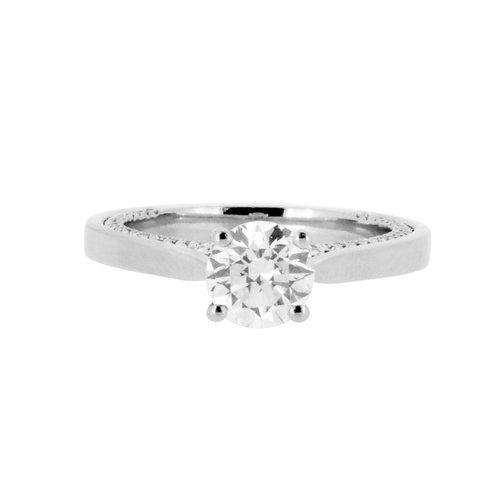 1.22ct F Colour Platinum Solitaire Diamond Engagement Ring 0101181