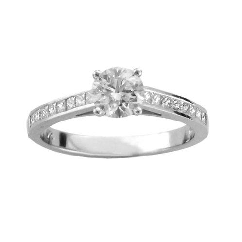 1.18ct Brilliant Cut Platinum Solitaire Diamond Engagement Ring 0101142